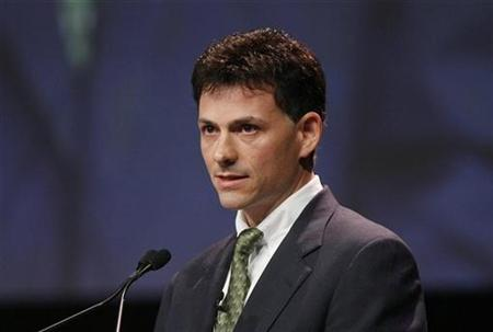 David Einhorn of Greenlight Capital, Inc. speaks during the Ira W. Sohn investment research conference in New York