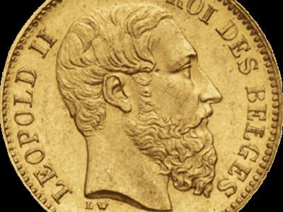 Pièces de 20 francs en or Union Latine