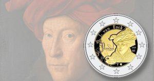 pieces 2 euros belgique Jan Van Eyck
